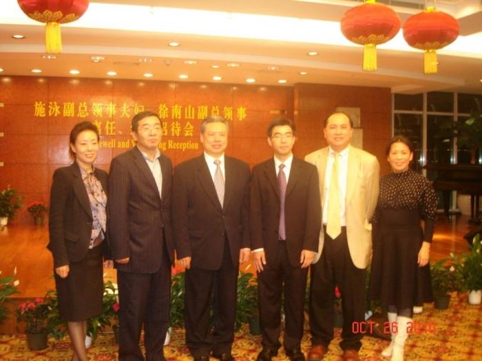 我会易会长参加中国领事馆迎送副总领事仪式